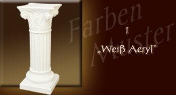 Skulptur - Farben Muster - Säulen Normal: 1 - Weiß