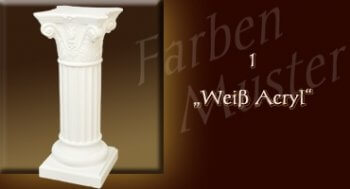 Beistelltisch - Farben Muster - Säulen Normal: 1 - Weiß