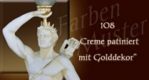 Farben Muster - Normal: 108 - Creme Patiniert mit Golddekor