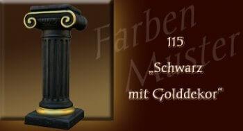 Farben Muster - Säulen Normal: 115 - Schwarz mit Goddekor