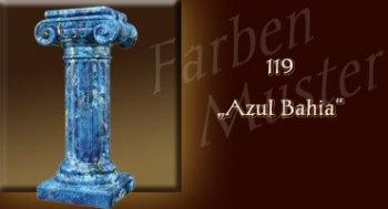 Farben Muster - Säulen Marmor Optik: 119 - Azul Bahia