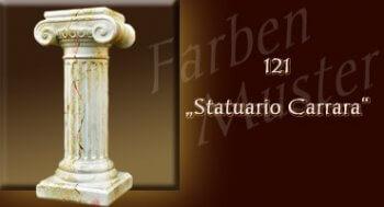 Farben Muster - Säulen Marmor Optik: 121 - Statuario Carrara  - Couchtisch