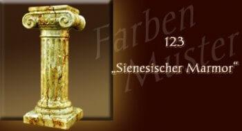Farben Muster - Säulen Marmor Optik: 123 - Sienesischer Marmor - Couchtisch