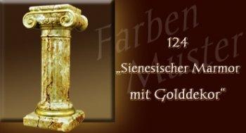Farben Muster - Säulen Marmor Optik: 124 - Sienesischer Marmor mit Golddekor