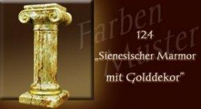 Säule Farben Muster - Säulen Marmor Optik: 124 - Sienesischer Marmor mit Golddekor