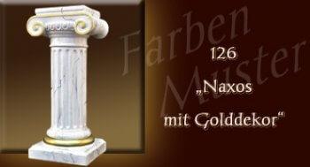 Farben Muster - Säulen Marmor Optik: 126 - Naxos mit Golddekor - Couchtisch
