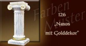 Säule Farben Muster - Säulen Marmor Optik: 126 - Naxos mit Golddekor