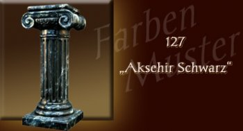 Farben Muster - Säulen Marmor Optik: 127 - Aksehir Schwarz