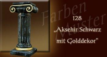 Farben Muster - Säulen Marmor Optik: 128 - Aksehir Schwarz mit Golddekor