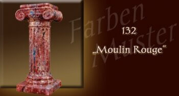 Farben Muster - Säulen Marmor Optik: 132 - Moulin Rouge