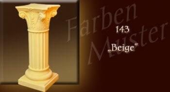Podest - Farben Muster - Säulen Normal: 143 - Beige