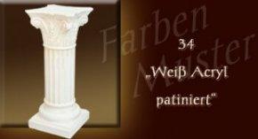 Wandlampe Farben Muster - Säulen Normal: 34 - Weiß Patiniert