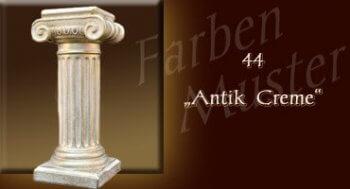 Couchtisch - Farben Muster - Säulen Normal: 44 - Antik Creme