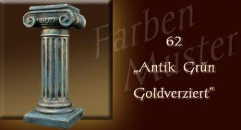 Skulptur Farben Muster - Säulen Normal: 62 - Antik Grün