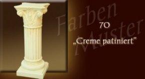 Wandlampe Farben Muster - Säulen Normal: 70 - Creme Patiniert