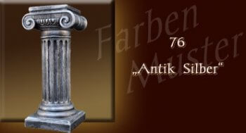 Skulptur Farben Muster - Säulen Normal: 76 - Antik Silber
