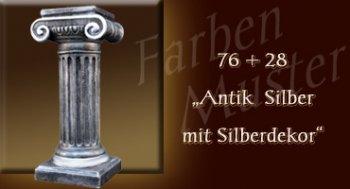 Skulptur Farben Muster - Säulen Normal: 76 + 28 Antik Silber mit Silberdekor