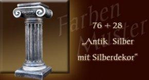 Farben Muster - Säulen Normal: 76 + 28 Antik Silber mit Silberdekor