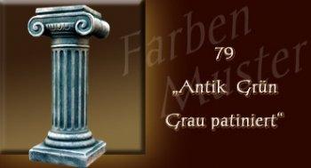 Skulptur Farben Muster - Säulen Normal: 79 - Antik Grün Grau Patiniert