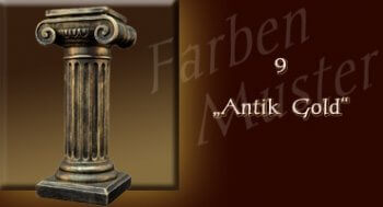 Skulptur Farben Muster - Säulen Normal: 9 - Antik Gold