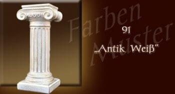 Skulptur Säule - Farben Muster - Säulen Normal: 91 - Antik Weiß