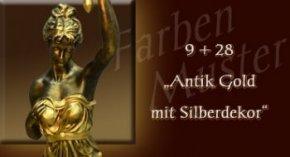 Farben Muster - Normal: 9 + 28 Antik Gold mit SilberDekor