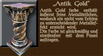 Couchtisch - Farben Muster - Säulen Alt: Antik Gold