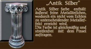 Couchtisch - Farben Muster - Säulen Alt: Antik Silber
