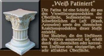 Couchtisch - Farben Muster - Säulen Alt: Weiß Patiniert