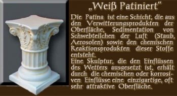 Säule - Farben Muster - Säulen Alt: Weiß Patiniert