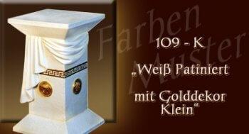 Farben Muster - Versace groß Normal: 109 K - Weiß Patiniert mit Golddekor Klein