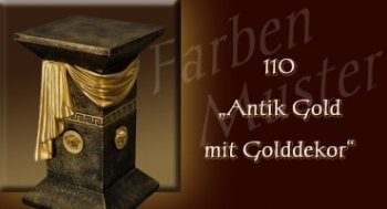 Farben Muster - Versace groß Normal: 110 - Antik Gold mit Golddekor
