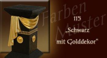 Farben Muster - Versace groß Normal: 115 - Schwarz mit Golddekor