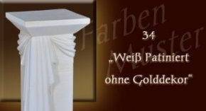 Farben Muster - Versace groß Normal: 34 - Weiß Patiniert