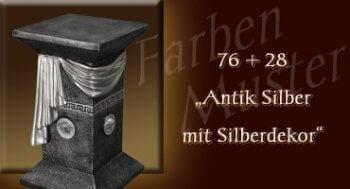 Farben Muster - Versace groß Normal: 76 + 28 - Antik Silber mit Silberdekor