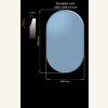 Glasplatte 1000 x 600 x 8 mm Oval