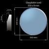 Glasplatte 550 x 8 mm Rund mit Facettenschliff