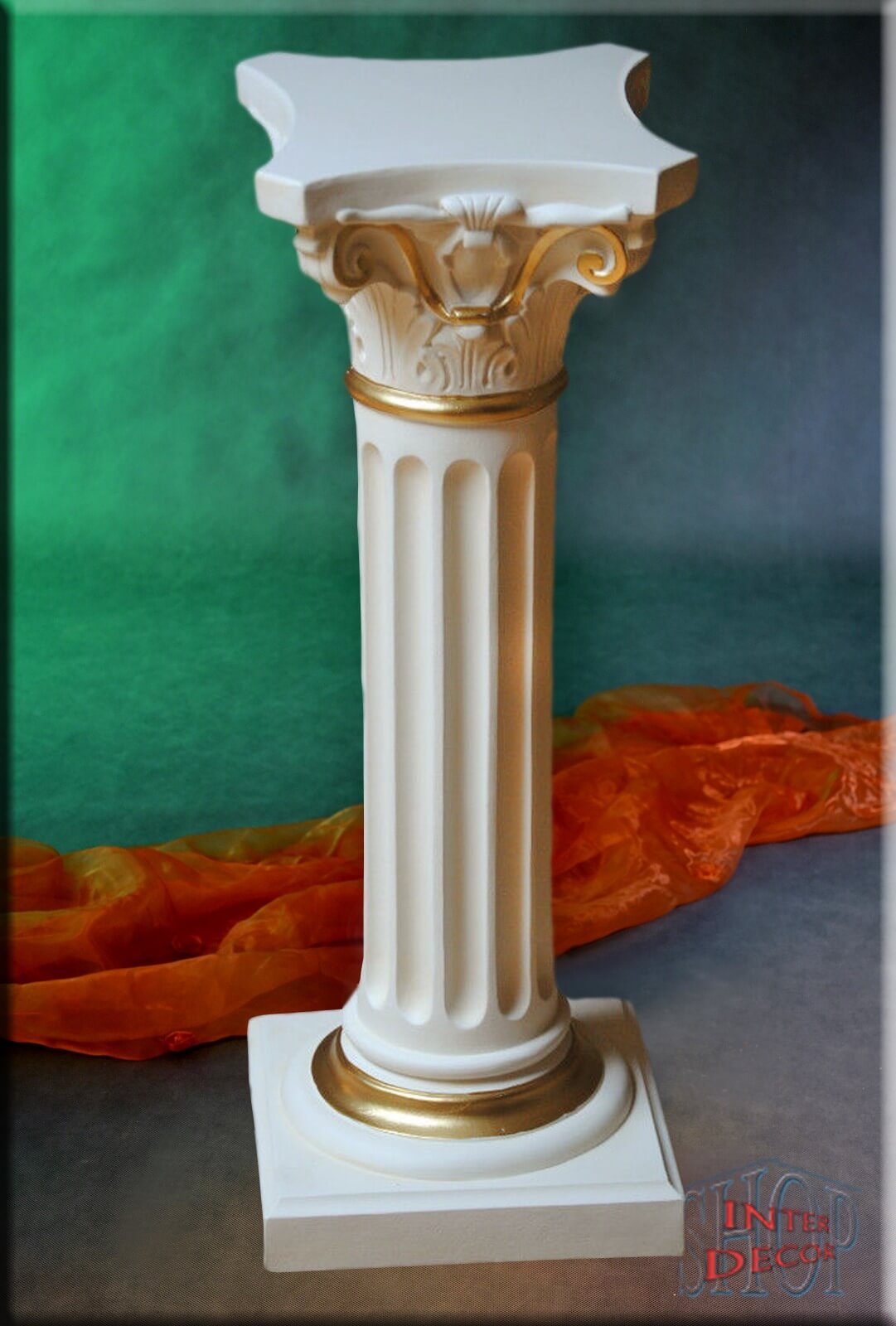 Antik Säule Blumensäule Tisch Design Barock Säulen Tische Stuckgips 1037 F70