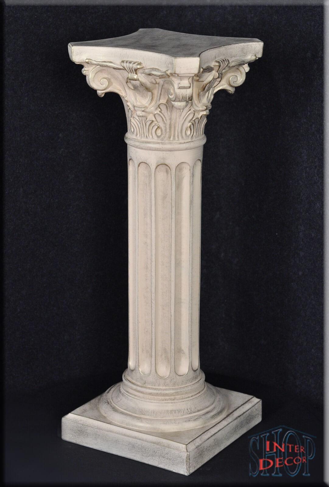 Säule Blumensäule Dekosäule Antik Griechische Säulen Sockel Ständer Podest  8 G Stuckgips