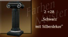 Farben Muster - Säulen Normal: 2 + 28 - Schwarz mit Silberdekor