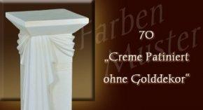 Farben Muster - Versace groß Normal: 70 - Creme Patiniert ohne Golddekor