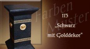 Farben Muster - Versace klein Normal: 115 - Schwarz mit Golddekor