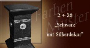 Farben Muster - Versace klein Normal: 2+28 - Schwarz mit Silberdekor